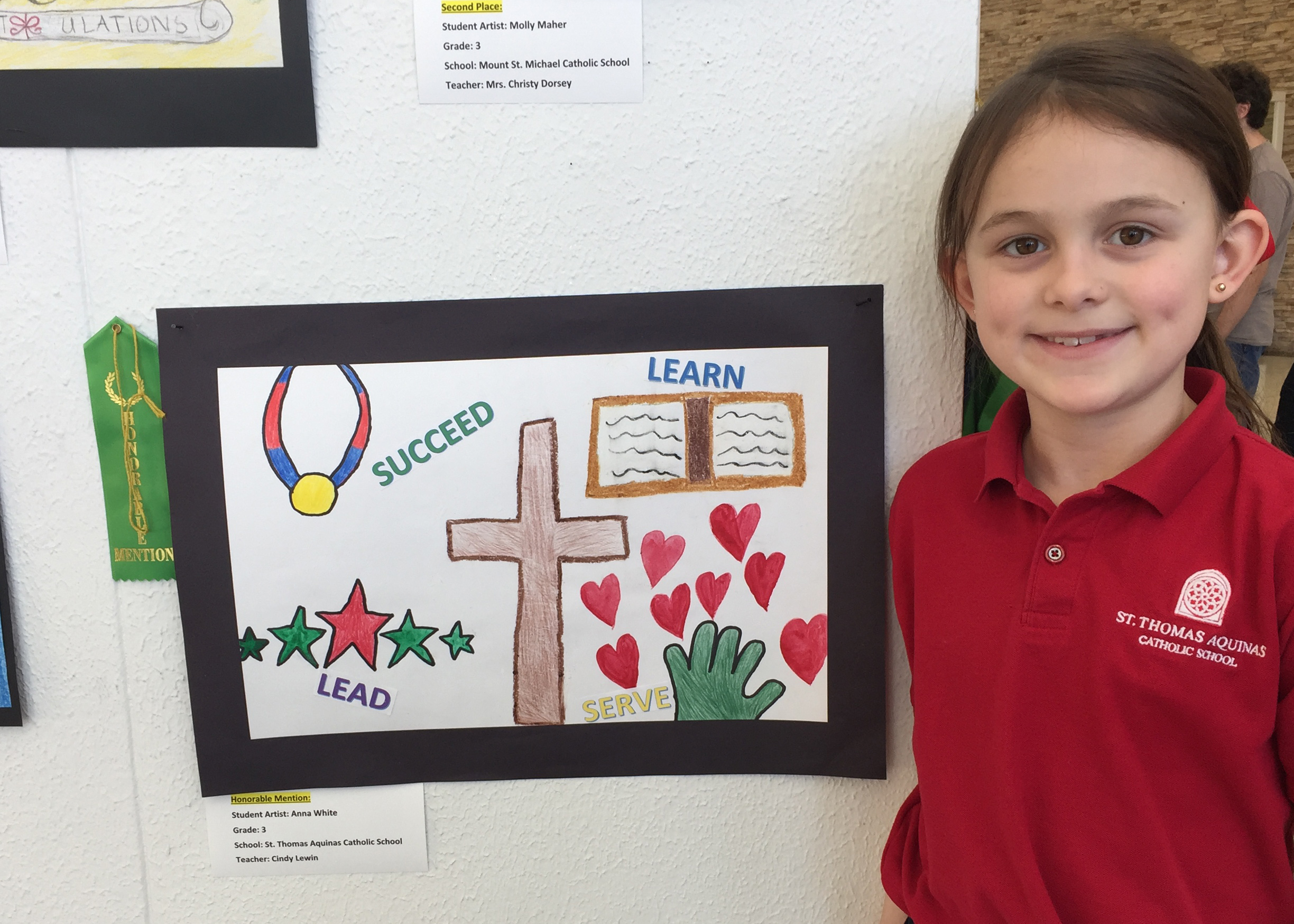 Honorable Mention at Catholic School Week Art Contest