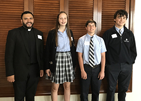 Serra Club Recognizes STA Altar Servers